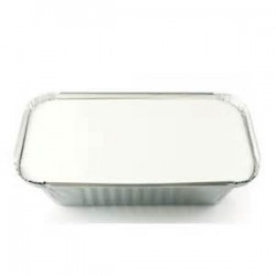 Foil container with lid
